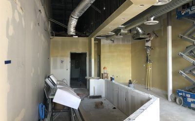 Retail Ice Cream Shop Drywall Update