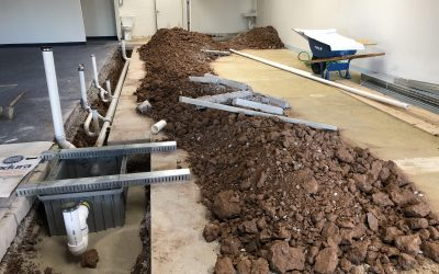 Ice Cream Production Facility Underground Plumbing Complete