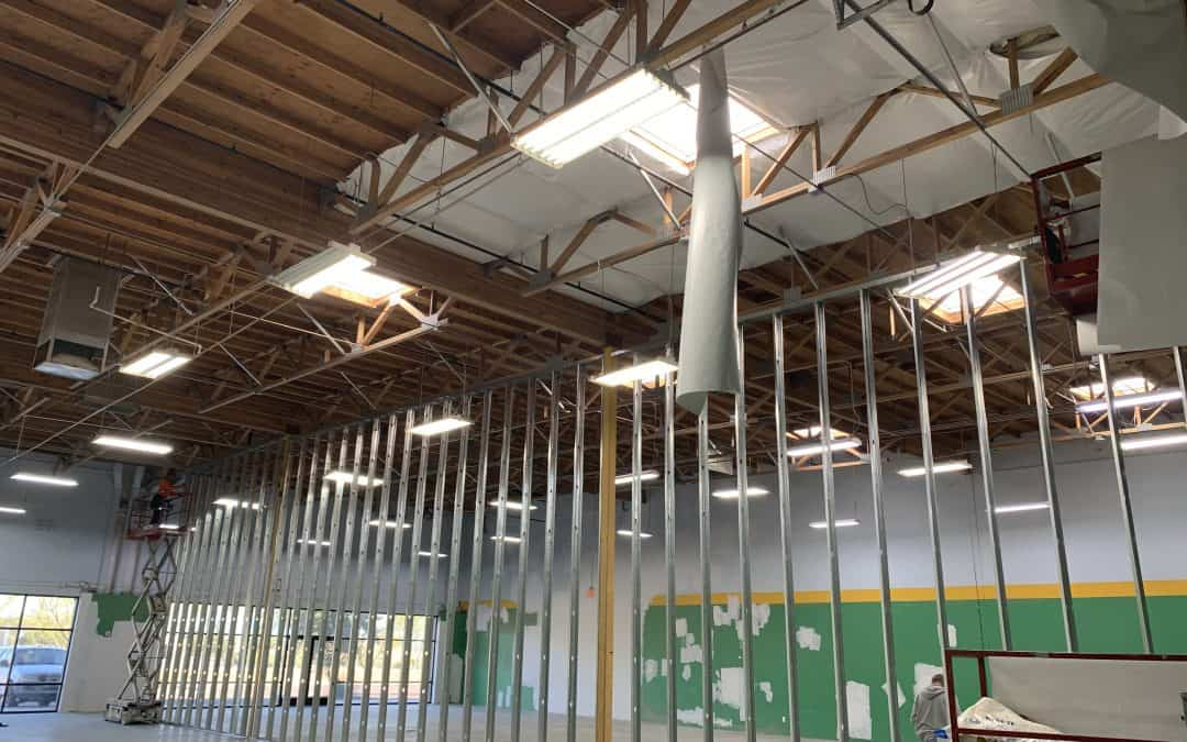 Demising Wall & Insulation at Queen Creek Space
