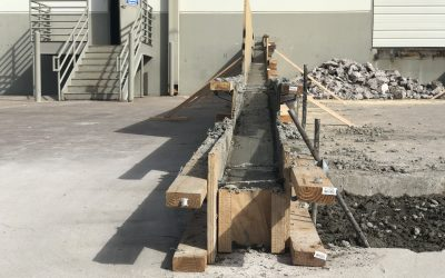 Progress at Tempe Warehouse Ramp