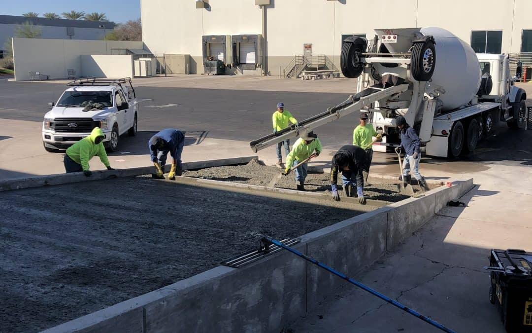 Concrete Ramp Poured at Tempe Warehouse