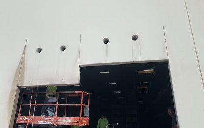 Garage Door Sawcut at Tempe Warehouse