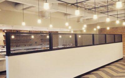 Bar Wall Panels, Air Curtains, & Fleur-De-Lis Screen at Vito's
