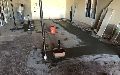 Balboa's Plumbing Trench Pour Back