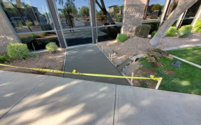 New Sidewalk & Stoop at Chandler Office Remodel
