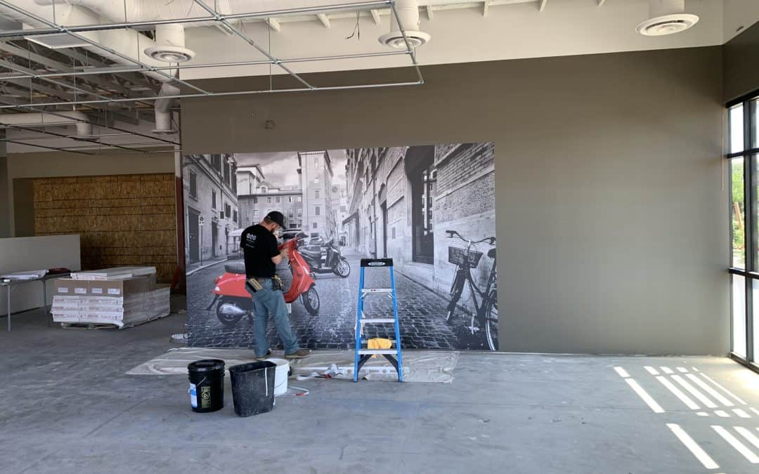 Wall Mural Installation at Vito's Gilbert