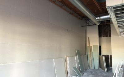 2nd Side of Drywall Installed at Balboa's