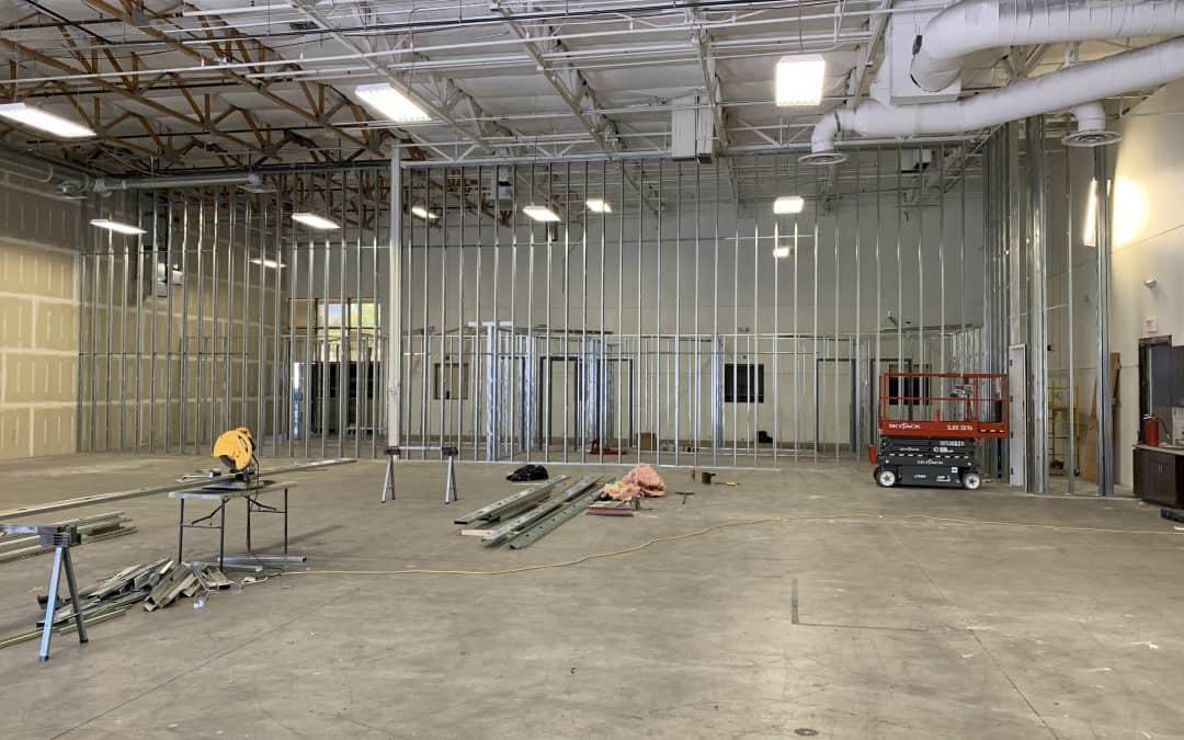Framing at Gilbert Warehouse/Office Remodel
