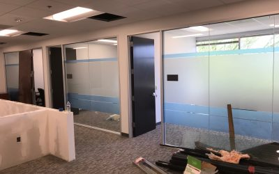 New Frosted Windows Installed at Trajan Wealth in Peoria