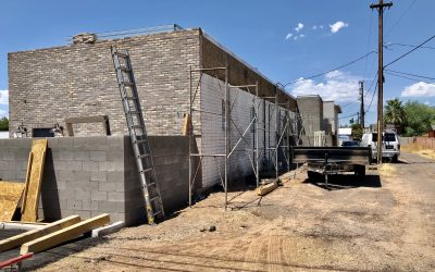 Parking Lot Completion & Stucco at Mama Linda's
