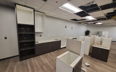 Cabinets & Phase 2 Demolition at EMC Insurance