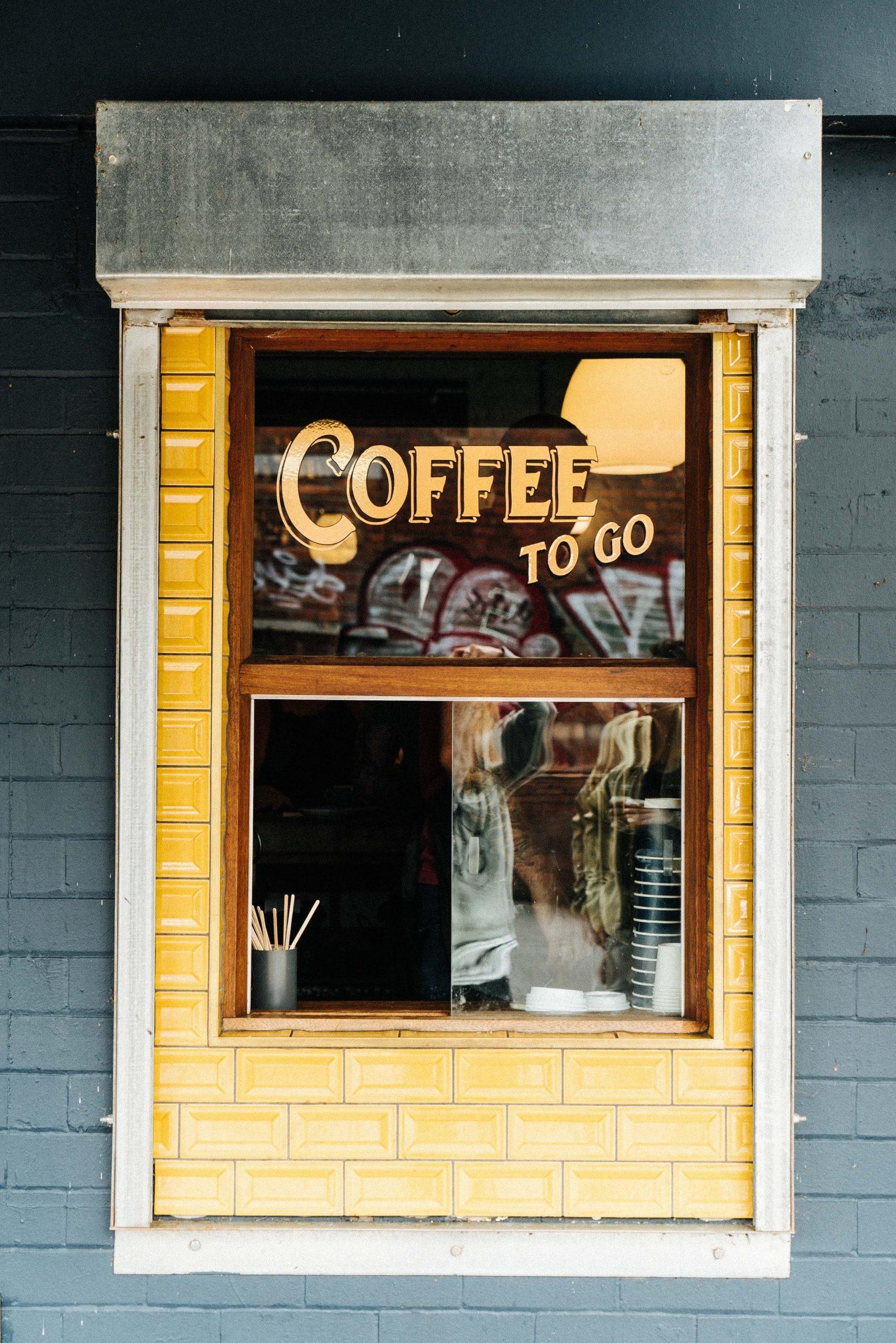 walk up coffee to go window