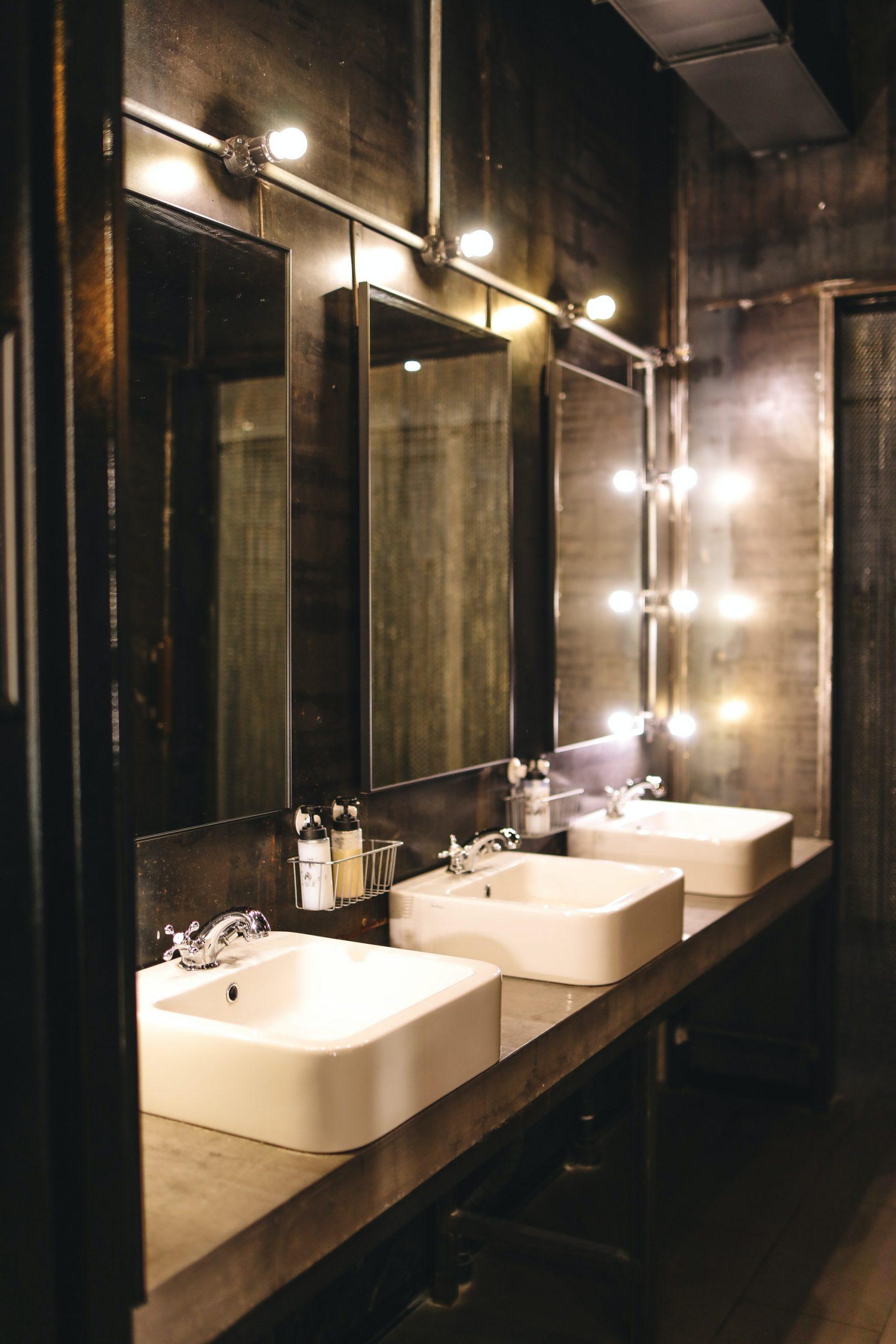 Commercial restroom design construction