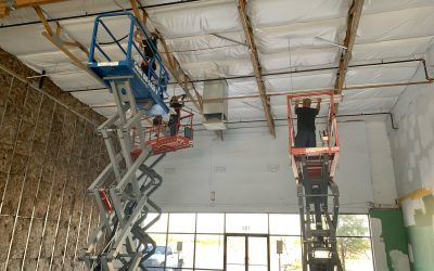 Ceiling Insulation & Electrical at Ruby Bloom Boutique (Queen Creek)