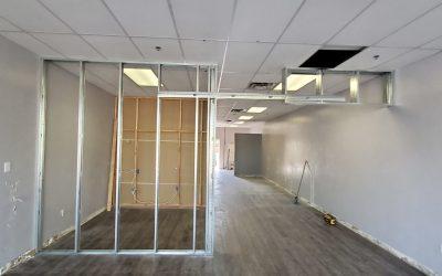 Framing at Gilbert Clinic Tenant Improvement