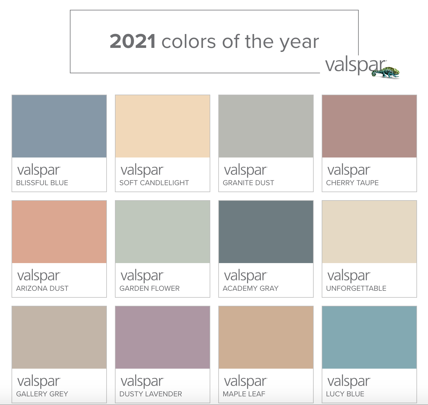 2021 Valspar Colors of The Year