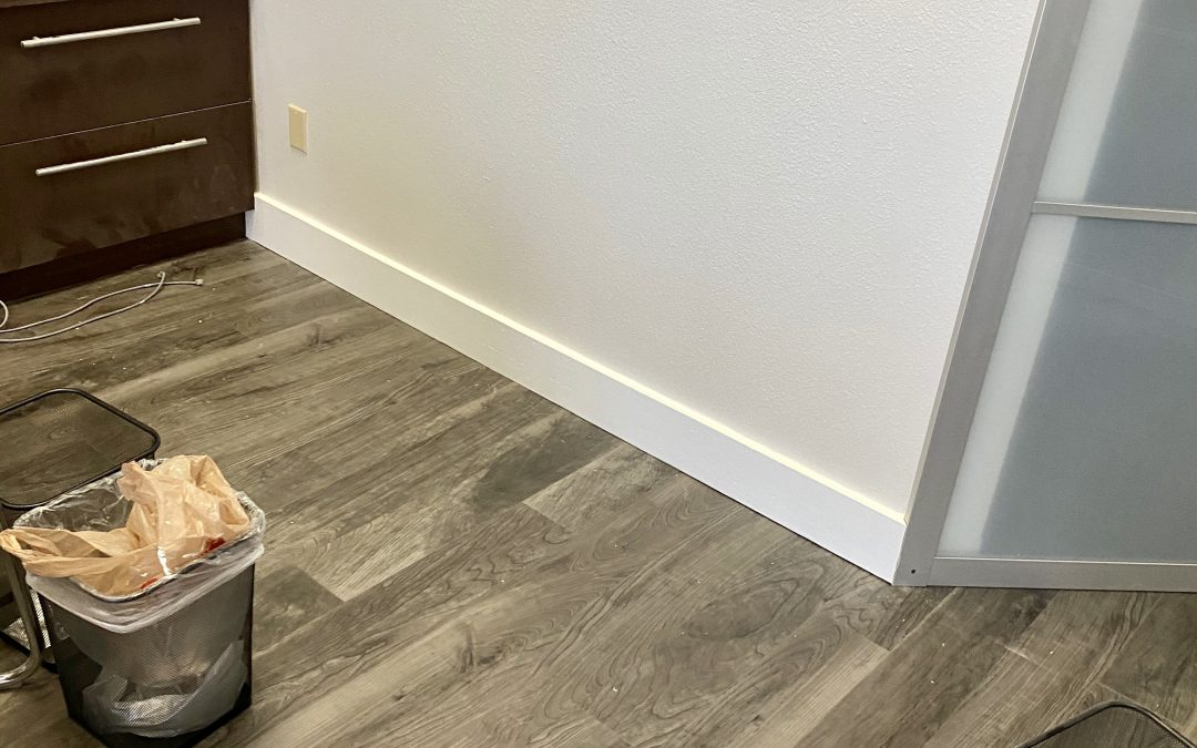 Fresh Paint & New Baseboards at State Farm Office Remodel (Phoenix)