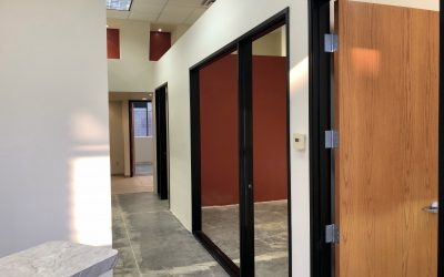 Door Frames and Floor Prep Completed at The Harding Firm