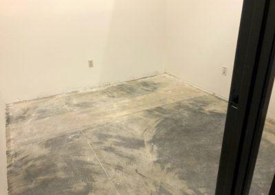 The Harding Firm Door Frames and Floor Prep