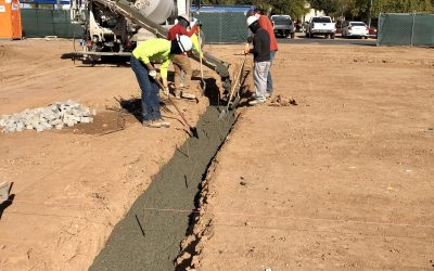 Footings Concrete Poured at Apple Valley Dental & Braces (Mesa)