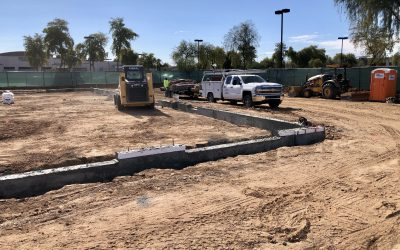 Underground Plumbing Layout at Apple Valley Dental & Braces (Mesa)