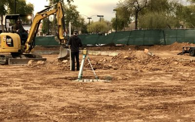 Rough Grading & Excavation for Plumbing at Apple Valley Dental & Braces