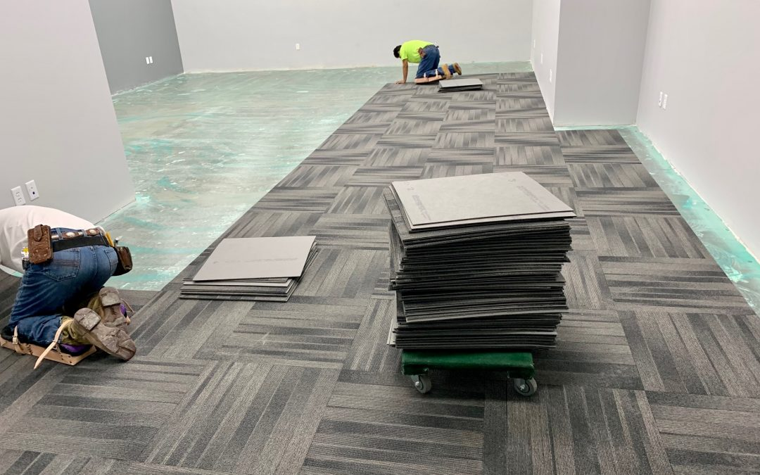 Flooring Prep and Carpet Install at Fusion Power (Chandler)