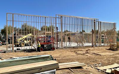 Exterior Walls Framed at Apple Valley Dental & Braces (Mesa)