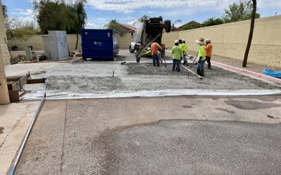 New Truck Ramp Poured at Quality Car Stereo (Mesa)