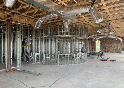 Apple Valley Dental Interior Framing