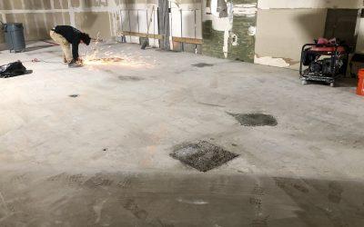 Floor Prep at Quality Car Stereo (Mesa)