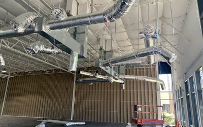 Demising Wall, Sprinklers, & HVAC Work at SkinScript (Chandler)