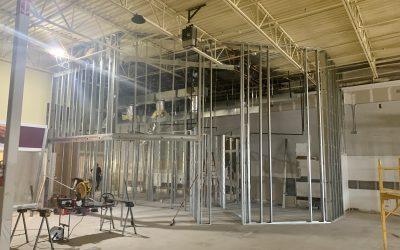 New Office Framing & Warehouse Floor Prep at Quality Car Stereo (Mesa)
