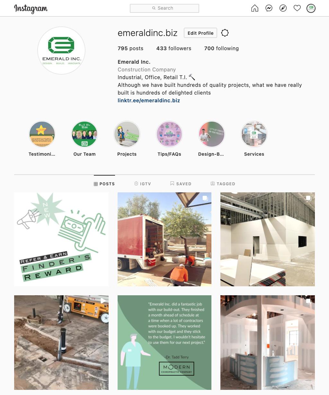 Emerald Inc. Instagram