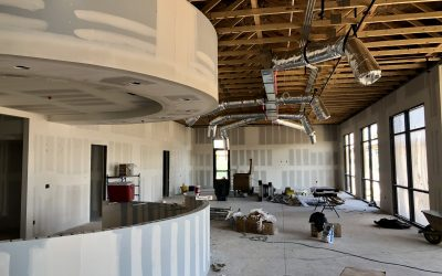 Drywall Taping & Beading Near Completion at Apple Valley Dental & Braces (Mesa)