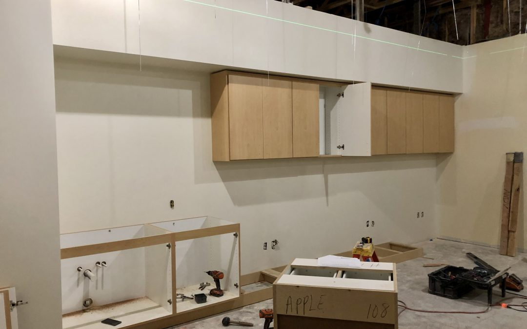 Ceiling Grid and Cabinets at Apple Valley Dental & Braces