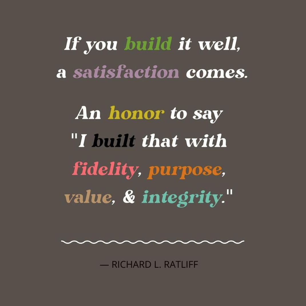 Build It Well Quote