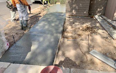 Back of House Access Concrete at BrüCo (Queen Creek)