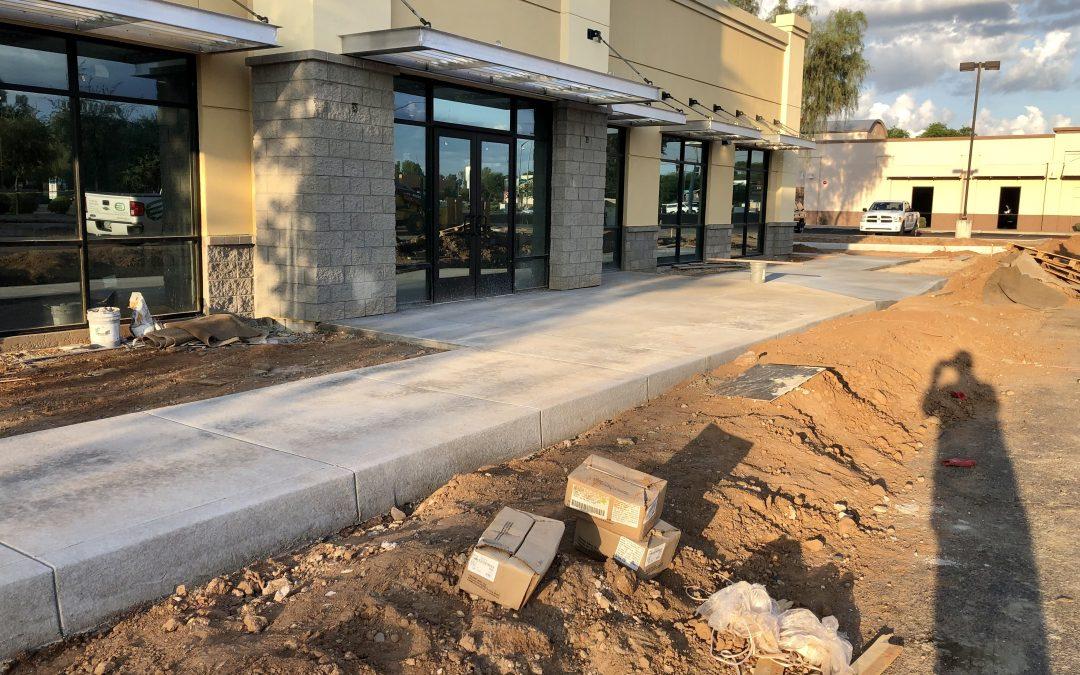 Curbs, Gutters, & Sidewalks at Apple Valley Dental & Braces (Mesa)