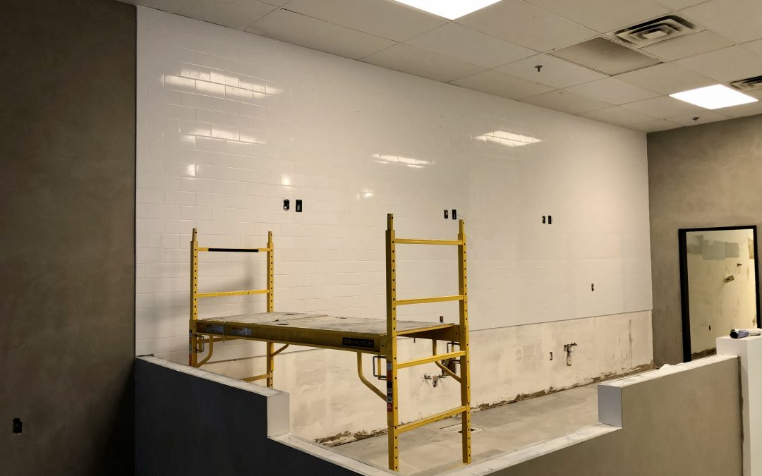 Subway Tile Installation at RareTea (Chandler)