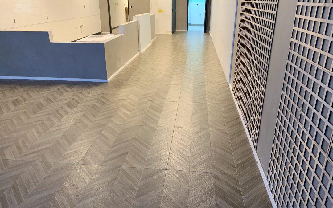 Tile Flooring & Signage at RareTea (Chandler)